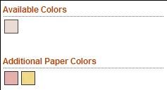 Standard Emery Board Paper Colors
