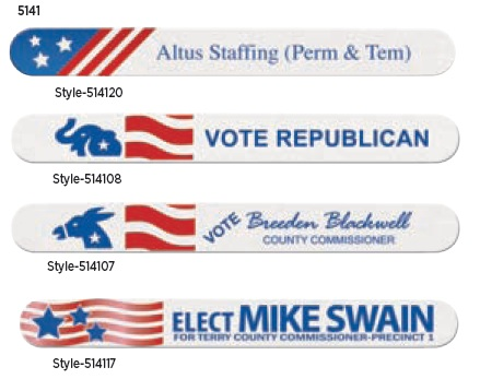 Political Designs for Emery Boards