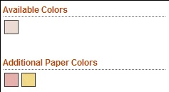 Standard Emery Board Paper Colors