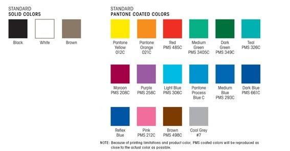 Standard Imprint Colors